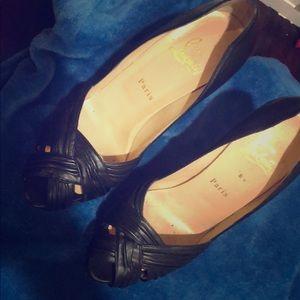 christian louboutin black high heels